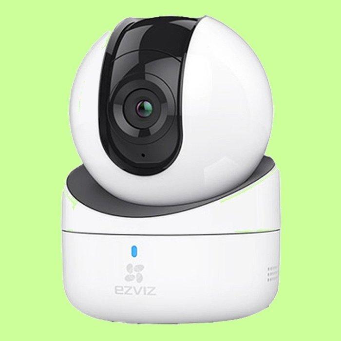 5Cgo【權宇】螢石C6H TF+雲儲存355度全方位保護 網絡監控紅外線夜視4MM高清攝影機電腦手機平板720P 含稅