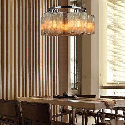 【58街-高雄館】「Glass deformed 玻璃管雲朵吊燈」美術燈。複刻版。GH-522