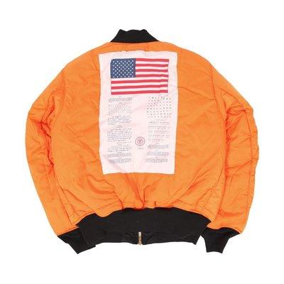 AF Store* ALPHA INDUSTRIES MA-1 BLOOD CHIT 血幅 美版 飛行夾克外套 黑/軍綠