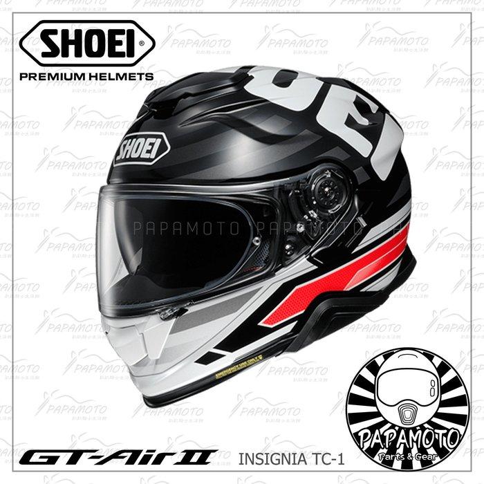 【趴趴騎士】SHOEI GT-AIR II INSIGNIA TC-1 (全罩安全帽 內墨片 GT AIR 2