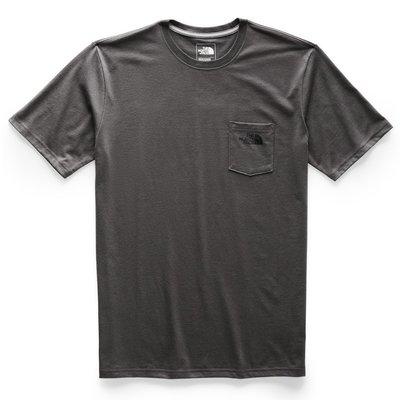 南◇現 The North FaceT-Shirt 短TEE 深灰色 口袋T 男生 短T 黑灰色 黑色小標 北臉