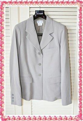 近全新agnes b.《Agnes`b》專櫃購買真品淺灰駝色OL西裝套裝