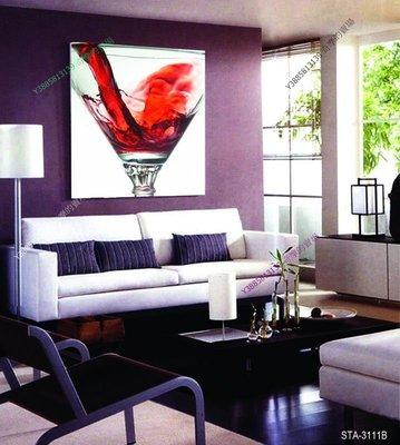 【30*30cm】【厚1.2cm】獨立畫酒杯-無框畫裝飾畫版畫客廳簡約家居餐廳臥室【280101_323】單聯畫