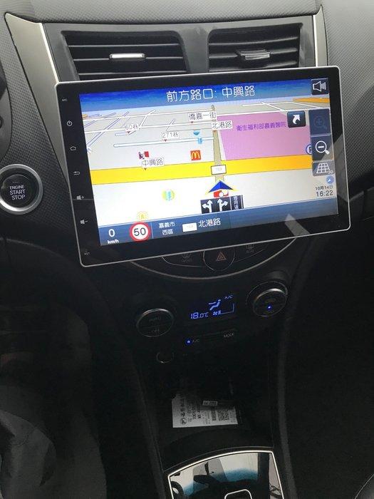 【嘉義.新動力汽車音響】 現代verna 升級10.1吋安卓機