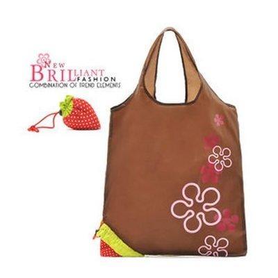 YesMK = (全新)02643 草莓 士多啤梨 摺疊式手挽袋 帆布袋 防水手袋 環保袋  (歡迎批發)(包郵)