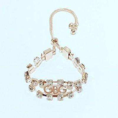 【就愛精品店】 G By Guess-B130333 玫瑰金色方形晶鑽 造型手鍊【$1180】