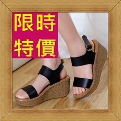 坡跟涼鞋-魅力顯瘦甜美女休閒鞋3色53l29 [韓國進口][米蘭精品]
