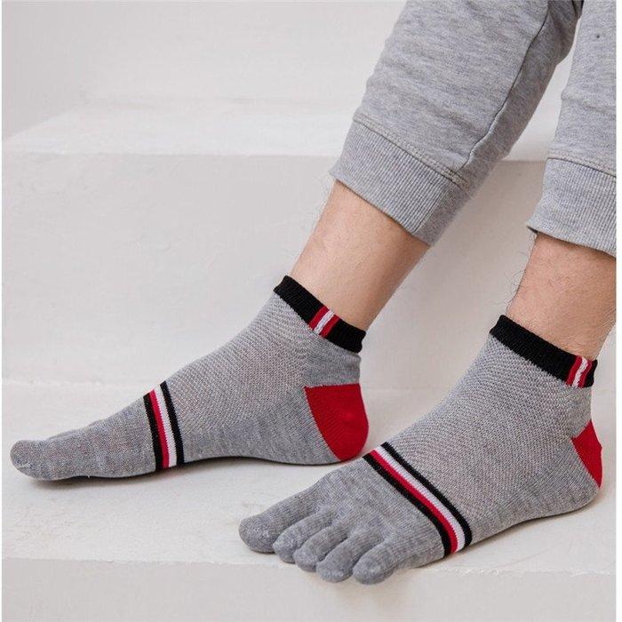 春夏薄五指襪男襪男士純棉網眼襪四季款短筒運動襪全棉