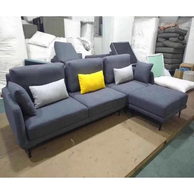[紅蘋果傢俱]JX-K17008 L型椅 棉麻沙發椅 布藝沙發 沙發椅 簡約 歐式