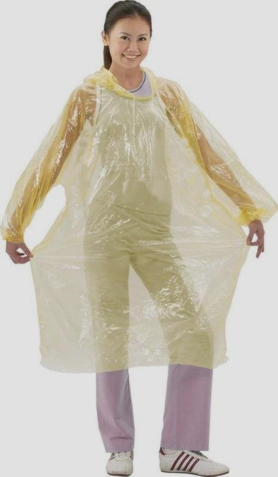 輕便雨衣 白色透明(50件一起賣)批發價400元.每件只賣8元.長袖型-便利雨衣【安安大賣場】