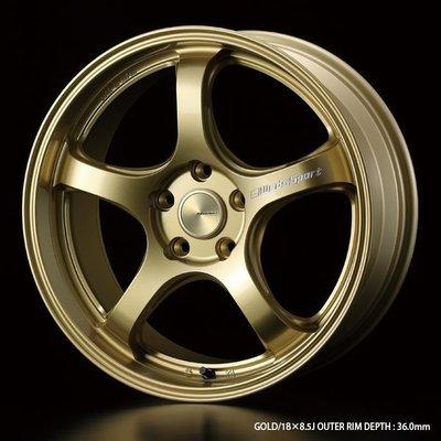 =1號倉庫= WedsSport RN-05M 鋁圈 鋼圈 金色 18吋 19吋 各車系