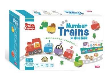 ☆天才老爸☆→【小康軒】Kids' Corner 火車排排隊←親子 繪本 桌遊 童書 立體書 共讀 拼圖 學習