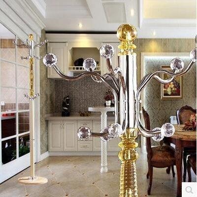 【優上】歐式鐵藝臥室落地衣帽架 不銹鋼衣服架子現代客廳掛衣架「金色」