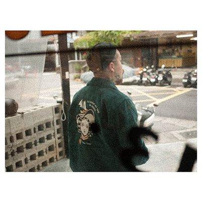 "Retrodandy - ""Pin-up""  by House Tattoo 燈芯絨外套 - 藍綠Green"