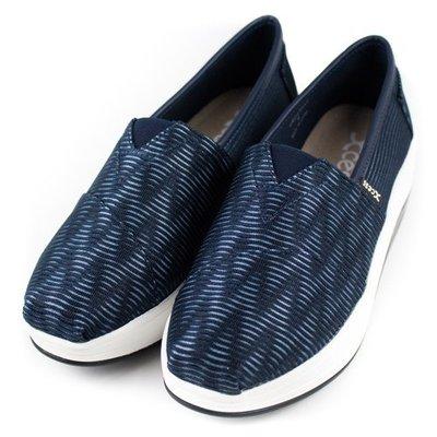 =CodE= XCESS CLASSIC 厚底增高休閒鞋(3D波紋藍) GW045-NVY TOMS 娃娃鞋 樂福鞋 女 台北市