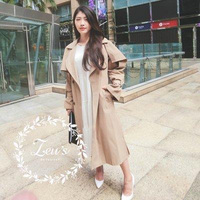 【ZEU'S】秋裝休閒寬鬆風衣外套『 11118902 』【現+預】K