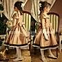 日本進口金色典雅女大童禮服~鋼琴演奏畢業花童生日派對~妍媽咪兒童禮服出租