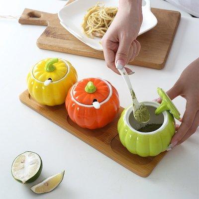 廚房 收納 陶瓷調味罐單個調料盒家用鹽罐廚房用品調味瓶辣椒油罐調料罐