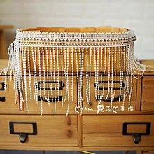 『ღIAsa 愛莎ღ手作雜貨』牛奶絲棉蕾絲花邊裝飾輔料流蘇花邊布料服裝DIY水溶寬15.5cm