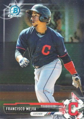 FRANCISCO MEJIA 2017 Bowman Chrome RC #BCP 51 Prospect 印地安人