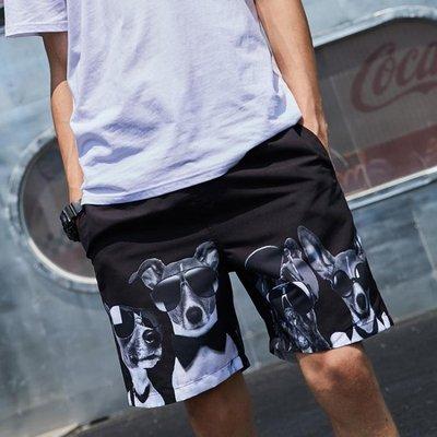 短褲 沙灘褲男寬鬆速干五分褲大碼花褲衩泰國海邊度假溫泉泳褲休閒短褲 精品鞋包
