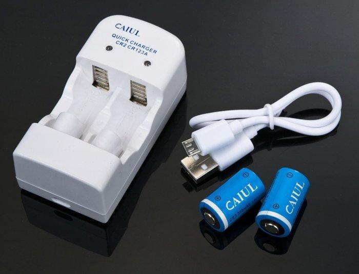 呈現攝影-Kamera CR2/CR123 充電組 CR2 充電電池x2+充電座 數位LOMO 拍立得相機 MINI P