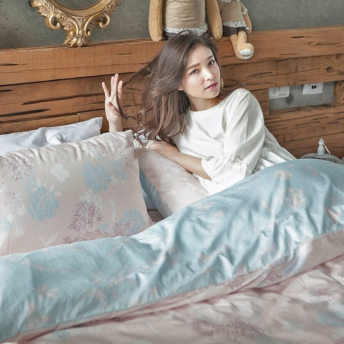 床包被套組 / 雙人【夢遊愛麗絲】含兩件枕套,100%精梳棉,奇妙童話時光,戀家小舖台灣製