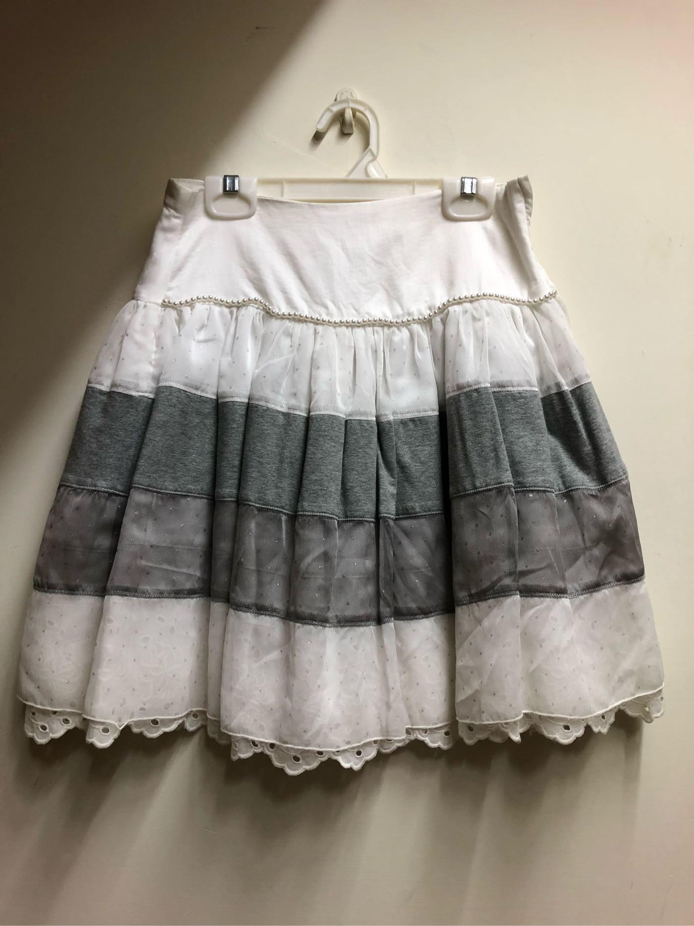 全新monnalisa黑白點點裙150cm