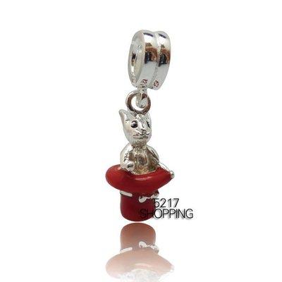 原價750元3折225元 銀飾【紅帽兔垂墜】charms 925純銀 925銀飾墜飾 純銀串珠 A8001141104