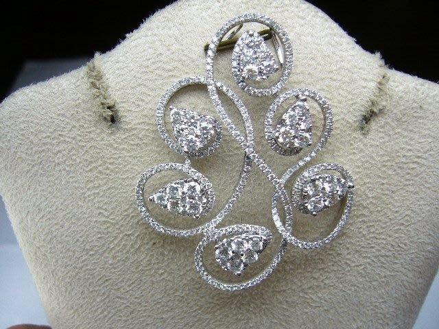 [吉宏精品交流中心]1.50克拉(30P) 天然鑽石 豪華 造型 墬子