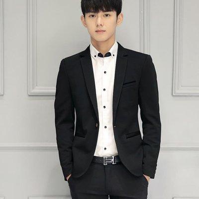 西裝外套 春季修身英倫小西裝男士韓版休閒小西服青年單西服職業裝上衣外套
