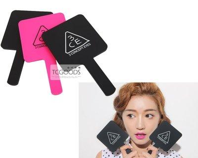 【台中好物】韓國 3CE stylenanda  手拿鏡 化妝鏡 巧妝鏡 鏡子 隨身鏡 手柄鏡 方鏡