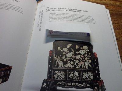 蘇富比拍賣品~17~18世紀鑲貝雕花漆器屏風,高17.5,寬17cm(不言堂藏品保真)