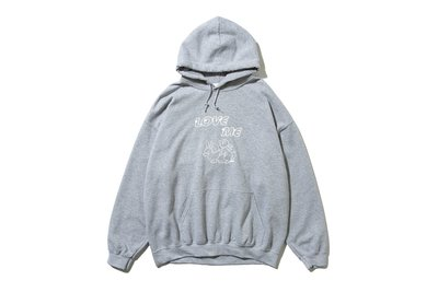 "[ LAB Taipei ] UNUSED "" US1808 PRINT SWEAT HOODIE "" (Grey)"