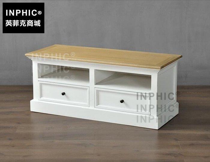 INPHIC-歐式電視櫃 白色現代簡約楊木電視機矮櫃_S1910C