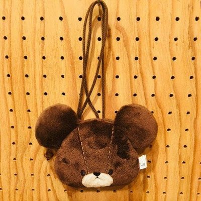 小熊學校傑琪掛脖式零錢包 The Bears' School 上學熊 日本正版~彤小皮的遊go世界