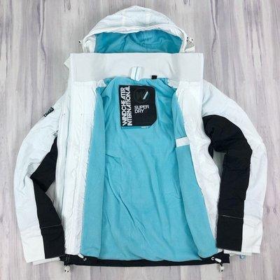 6097 F5  極度乾燥 女版 連帽 拼接 防風衣 單拉鍊 夾克 刷毛 Superdry外套 保證正品~~