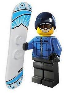 絕版【LEGO 樂高】玩具 積木/ Minifigures人偶包系列: 5代 8805 | #16 滑雪男孩+雪板