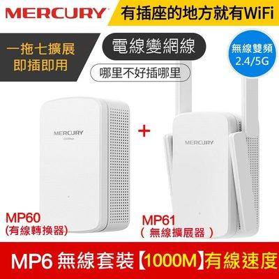 水星MP6 電源WiFi 無線網路電力貓 2.4G/5G雙頻 套裝一對