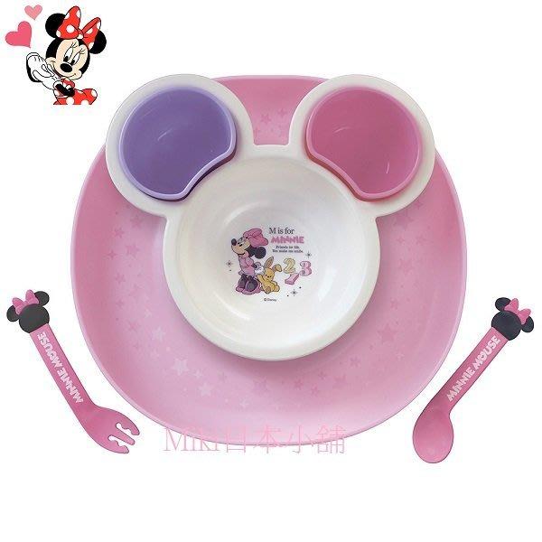*Miki日本小舖*日本迪士尼Minnie 米妮造型餐具附托盤套裝組