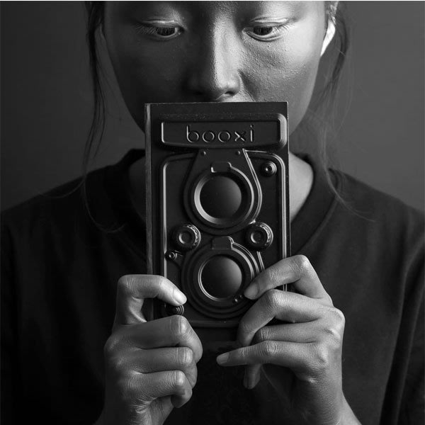 造型筆記本 天晴 手繪本 設計款 筆記本 ( 雙鏡頭相機-格點筆記本 ) booxi i-HOME愛雜貨