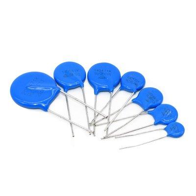 壓敏電阻10D391K突波吸收器藍色直插390V防雷型壓敏電阻