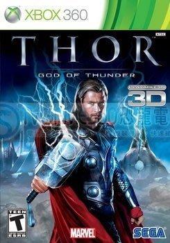 【二手遊戲】XBOX360 3D 雷神索爾 THOR God of thunder 英文版 九成九新【台中恐龍電玩】