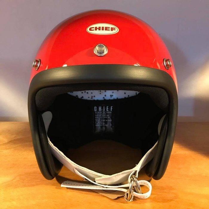 (I LOVE樂多) Chief Helmet TX500 3/4 小帽體安全帽 紅色 喜愛BELL BUCO 可參考