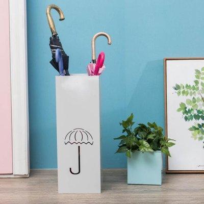 簡約現代雨傘架家用室內雨具收納架方形瀝水傘桶長短款雨傘整理架 QG811