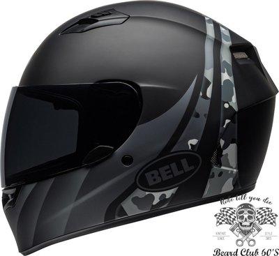 ♛大鬍子俱樂部♛ Bell ® Qualifier Integrity 美國 原裝 消光 迷彩 黑/灰 全罩 安全帽
