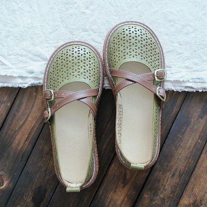 韓國牛鞋森林系復古文藝單鞋大頭鞋厚底松糕鞋淺口森女圓頭女鞋chic網紅鞋