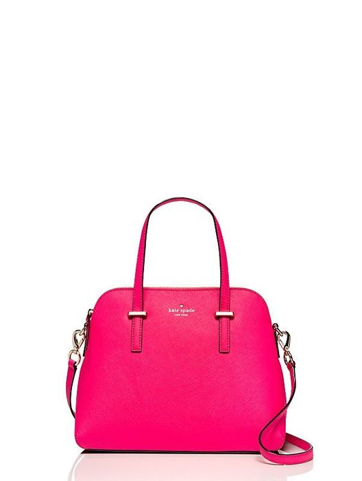 KATE SPADE Cedar Street 桃紅色手提包/斜背包 防刮皮革(100%全新保證真品,附原廠防塵袋)