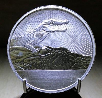 «自由銀» 2019 Australia Crocodile -澳洲珀斯鑄幣廠 鱷魚銀幣 (2 toz=62.2g)