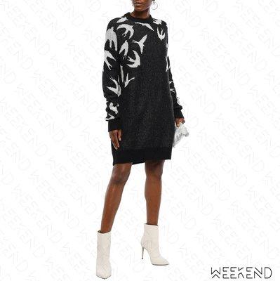【WEEKEND】 MCQ ALEXANDER MCQUEEN Logo 針織 長袖 衛衣 短洋 黑色